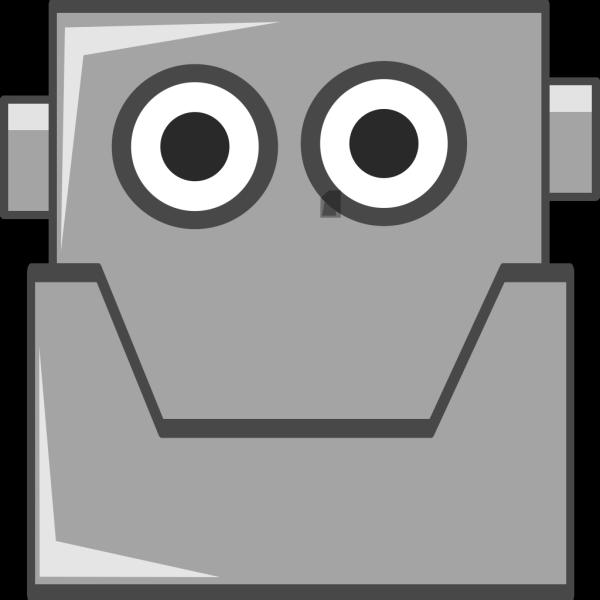 Happy Robot Head PNG Clip art