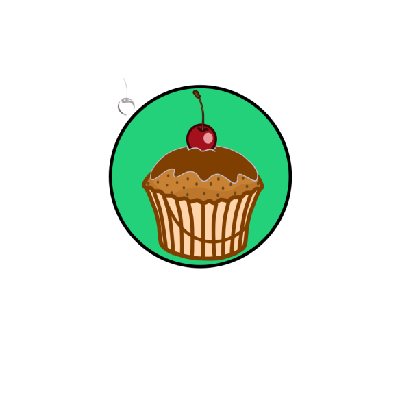 Chocoalte Frosting Cupcake PNG Clip art