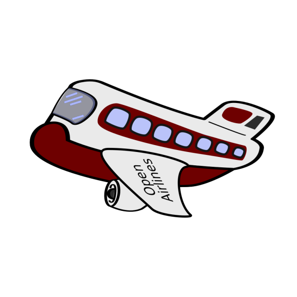 Cartoon Airplane PNG icons