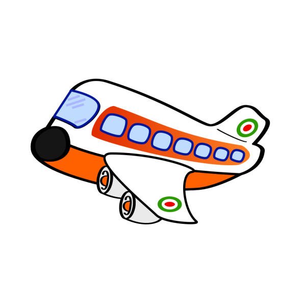 Orange Jumbo Jet PNG Clip art