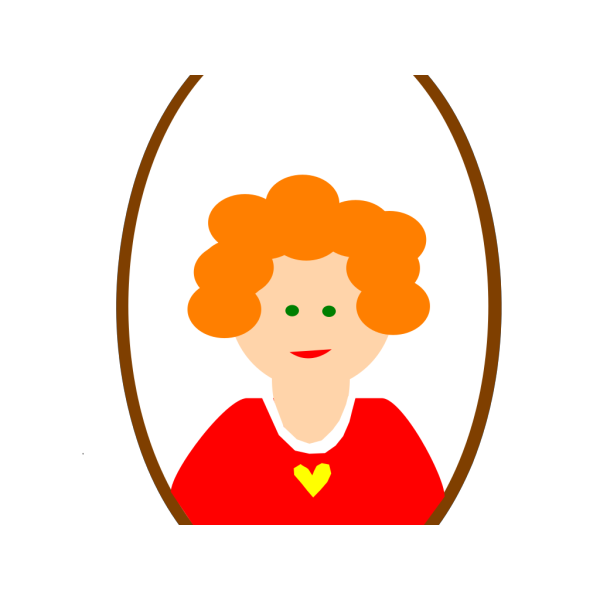 Red Head Girl Cartoon PNG icons