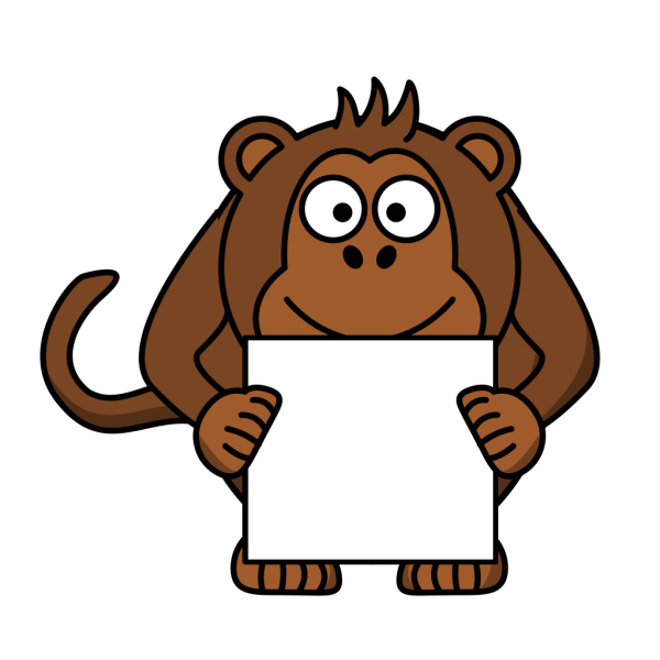 Monkey With Sign PNG Clip art