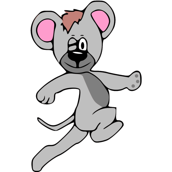 Cartoon Mouse Running PNG Clip art