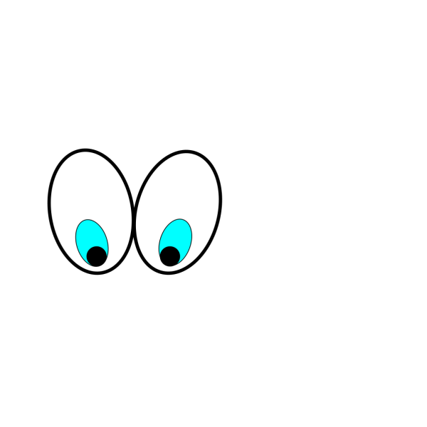 Cartoon Eyes(looking Down) PNG Clip art