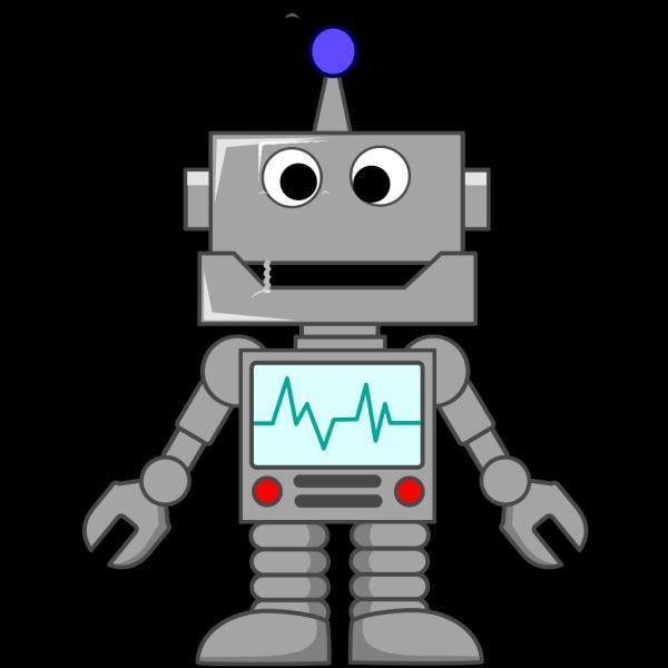 Happy Robot PNG Clip art