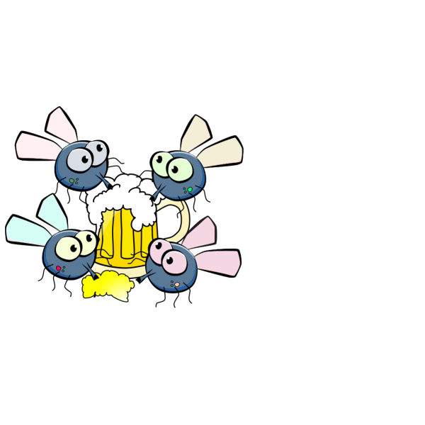 Flies Drinking PNG Clip art