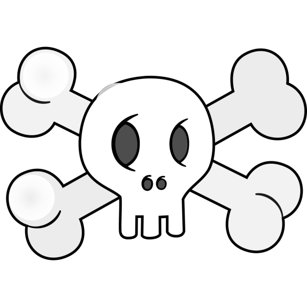 Skull With Cross Bones PNG Clip art
