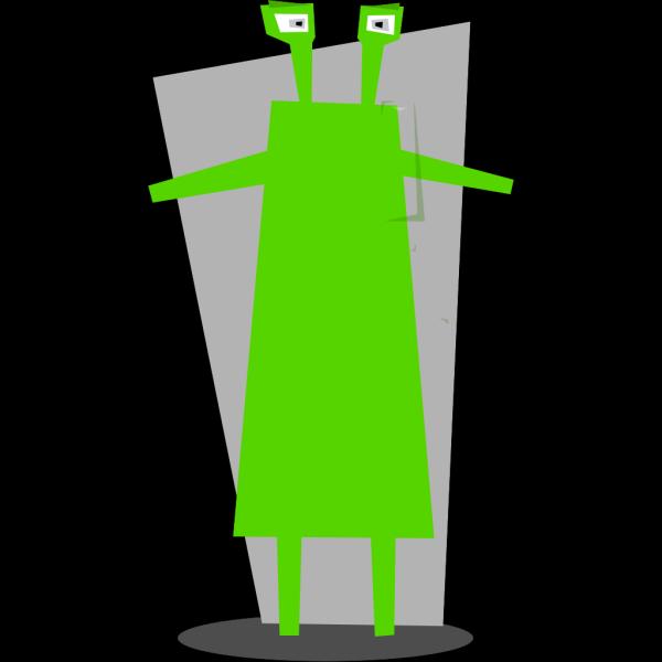 Green Martian  PNG Clip art