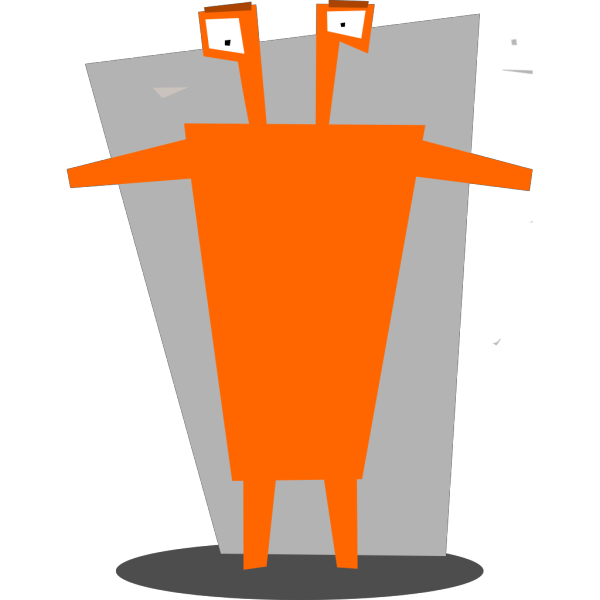 Orange Space Alien PNG Clip art