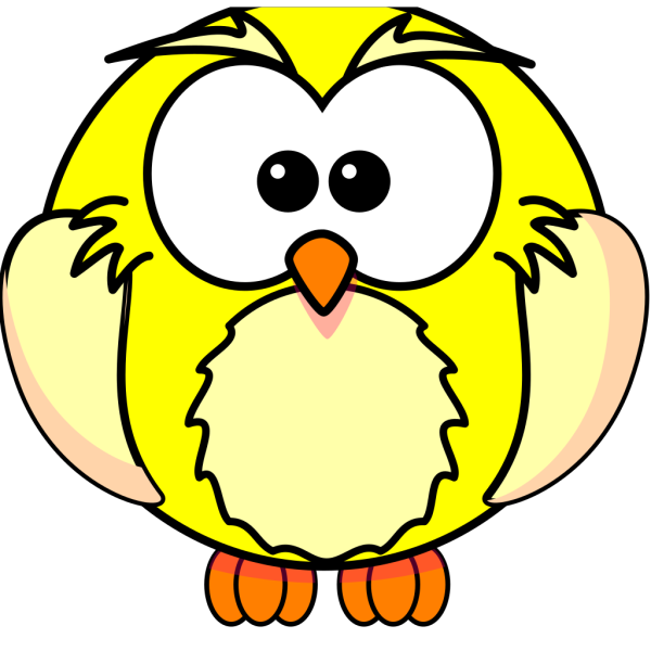 Yellow Owl PNG Clip art