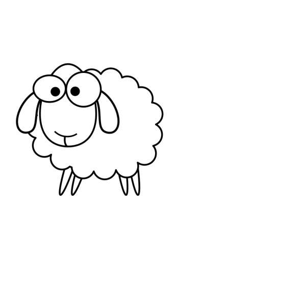 Outline Sheep PNG Clip art