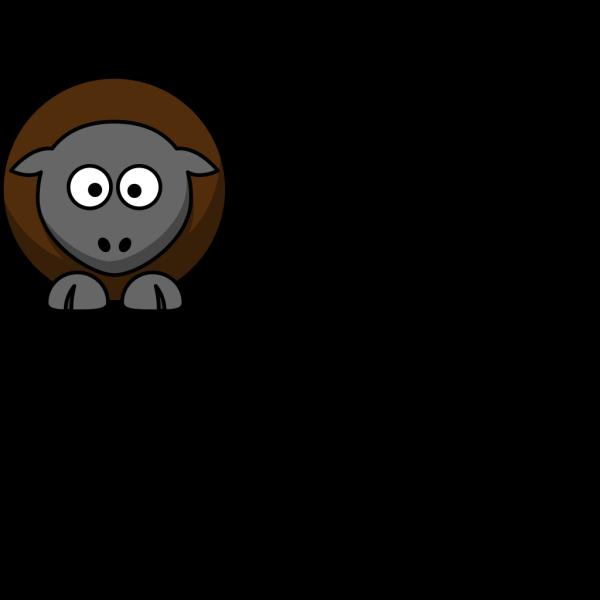 Sheep Cartoon Outline PNG Clip art