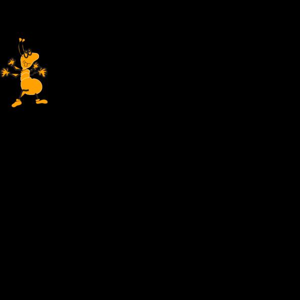 Orange Ant PNG Clip art