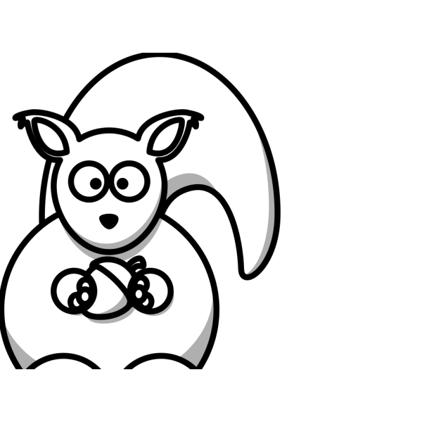 Squirrel-with-nut-white PNG Clip art