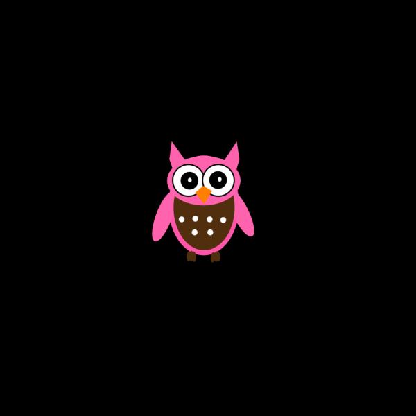 Cute Pink Owl PNG Clip art