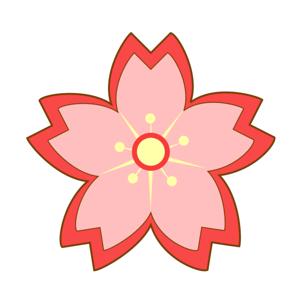 Cartoon Sakura Blossom PNG Clip art