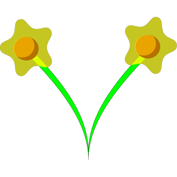 Two Daffodils PNG Clip art