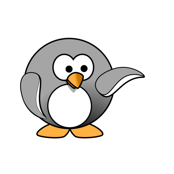 Pointing Penguin PNG Clip art