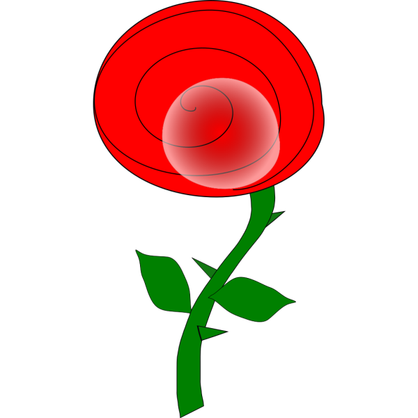 Spiral Rose Cartoon PNG Clip art