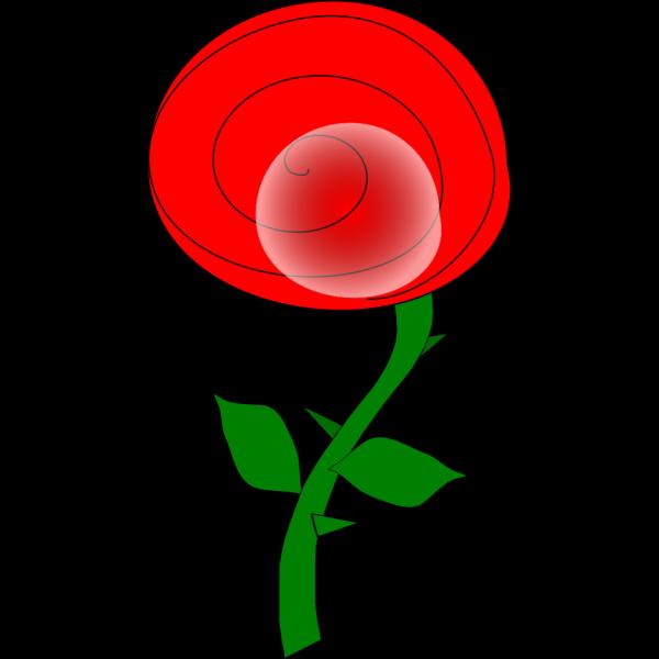 Spiral Rose Cartoon PNG Clip art