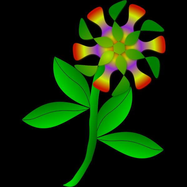 Rainbow Flower PNG Clip art