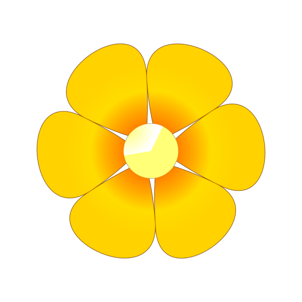 Orange Flower With Leaves PNG Clip art