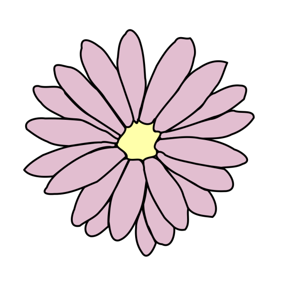 Pink Daisy PNG clipart