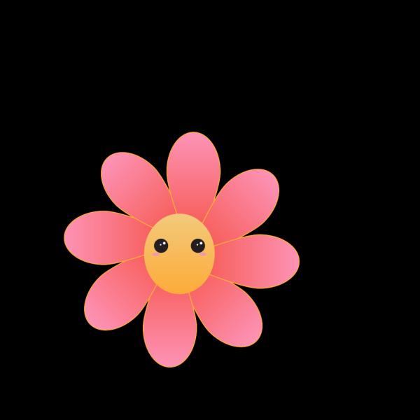 Cute Flower Face PNG Clip art