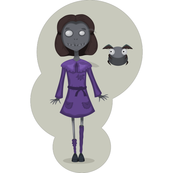 Zombie Girl PNG Clip art