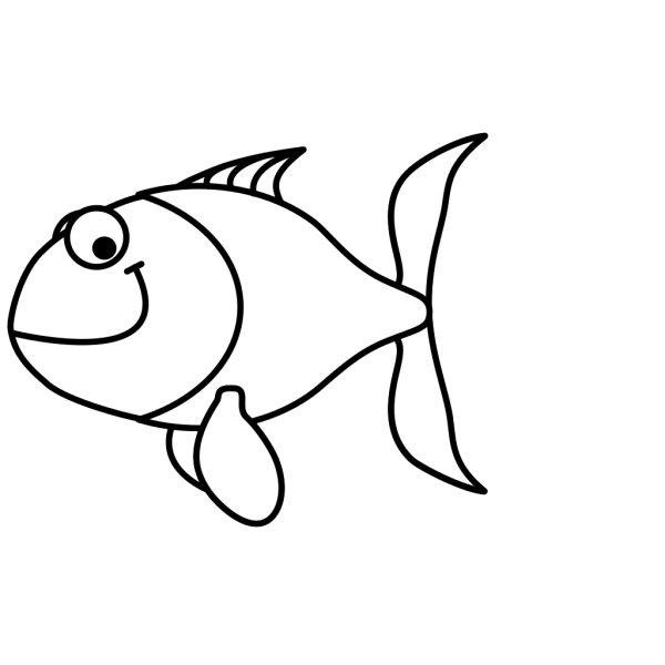 Fish, Black And White PNG Clip art