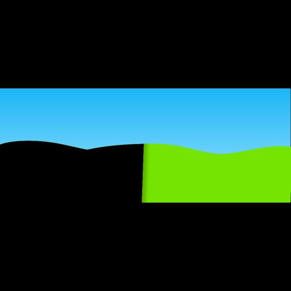 Basic Cartoon Landscape PNG Clip art