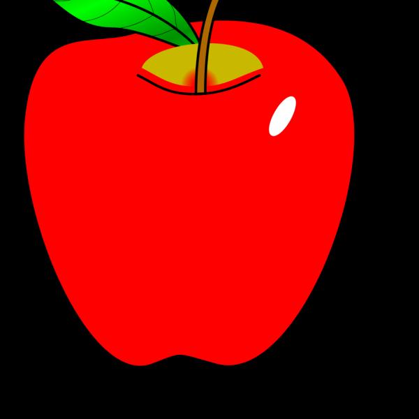 Cartoon Red Apple PNG Clip art