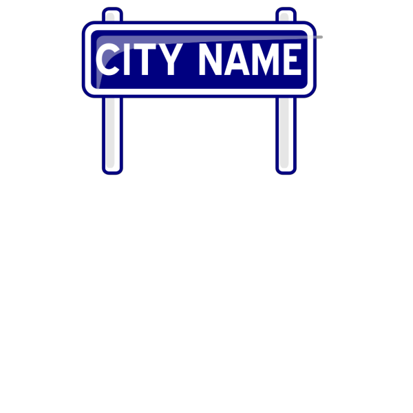 City Nameplate PNG Clip art