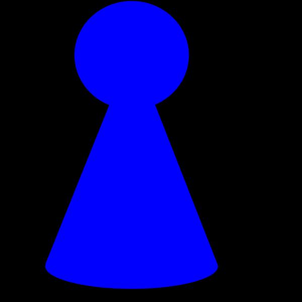 Ludo Piece - Peacock Blue PNG Clip art