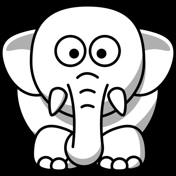 Elephant Outline PNG Clip art
