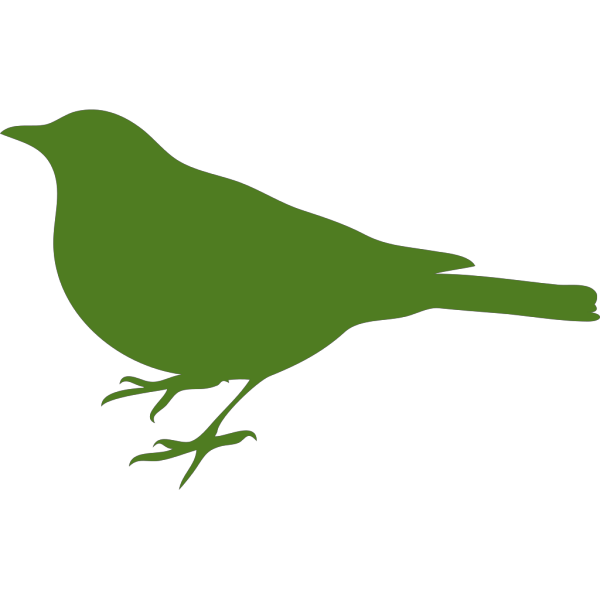 Green Bird Profile PNG images