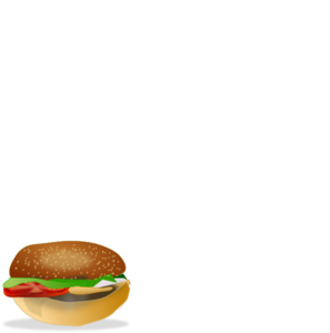 Eat This Burger Black And White PNG Clip art
