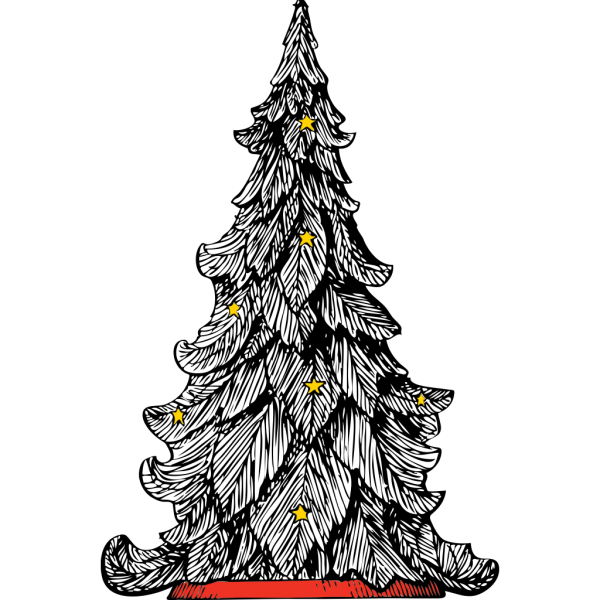 White Christmas Tree PNG Clip art