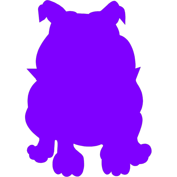 Purple Bulldog PNG clipart