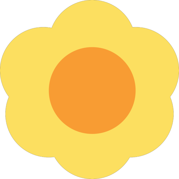Yellow Flower PNG icons