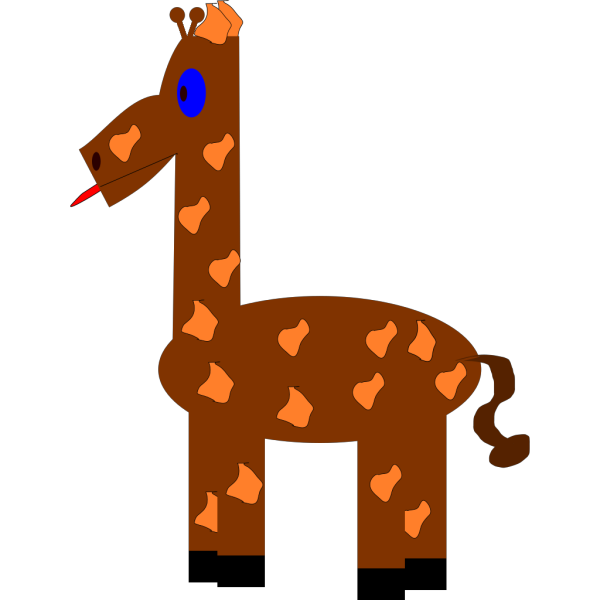 Cartoon Giraffe PNG icon
