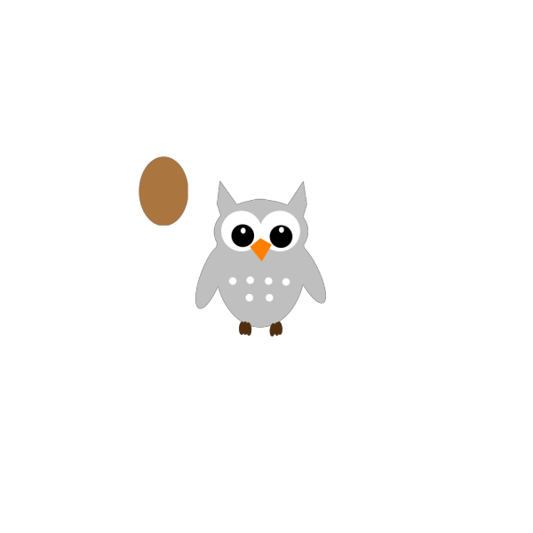 Orange Owl Cartoon PNG Clip art