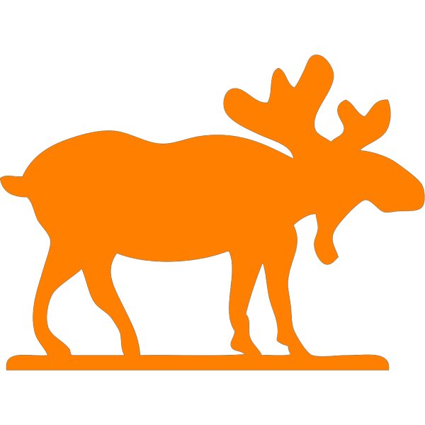 Orange Moose Cartoon PNG Clip art