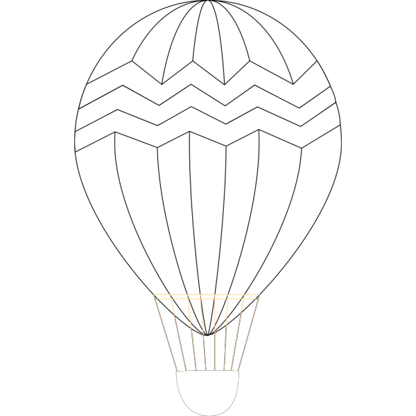 Clue Hot Air Balloon Outline Silhouette PNG Clip art