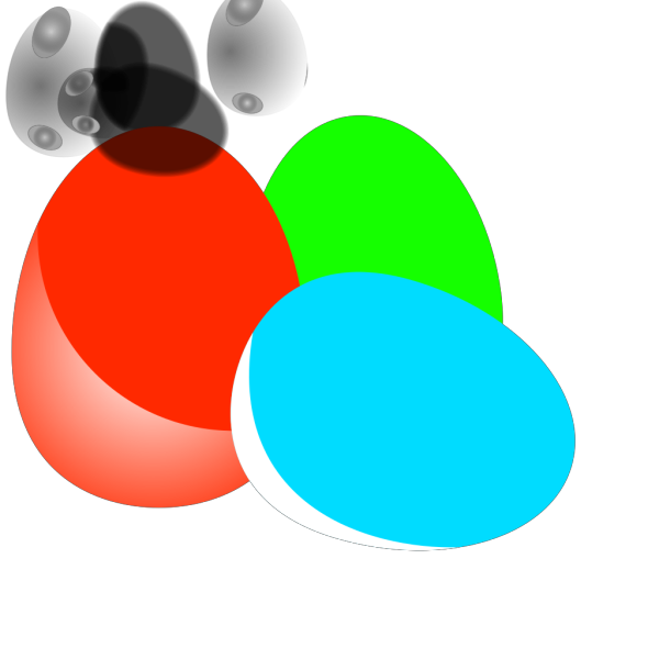 Bowl Of Easter Eggs PNG Clip art