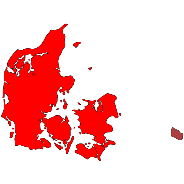 Map Of Denmark PNG Clip art