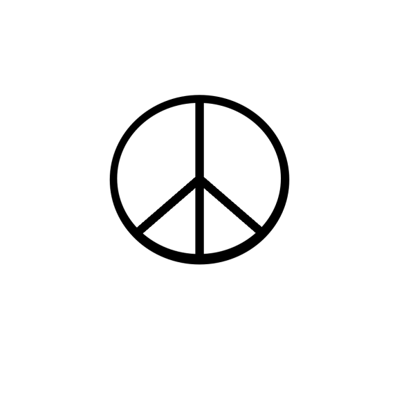 Peace Symbol (transparent Fix) PNG Clip art