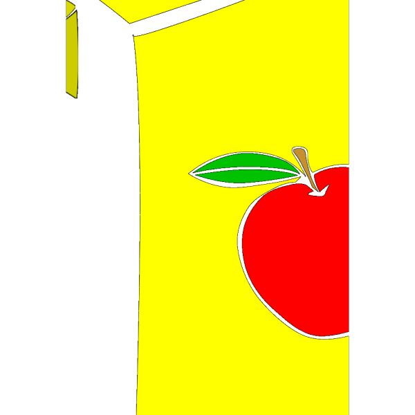 Apple Juice Box (b And W) PNG Clip art