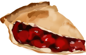 Cherry Pie (b And W) PNG Clip art