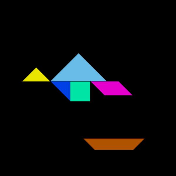 Tangram-03 PNG Clip art